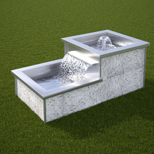 fontana da giardino / da interno / in pietra naturale / in acciaio inox