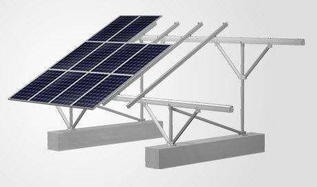 sistema di montaggio a terra / per tetto di tegole / per modulo fotovoltaico