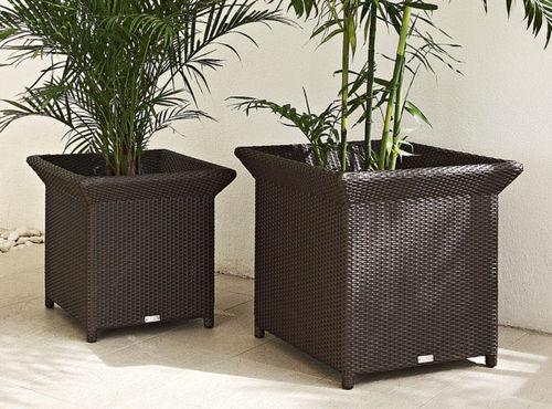 vaso da giardino in alluminio / rettangolare / quadrato