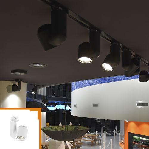 faretti a binario LED / tonda / in policarbonato / per negozio