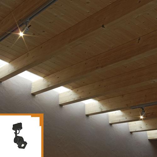 faretti a binario LED / alogena / quadrata / in alluminio anodizzato