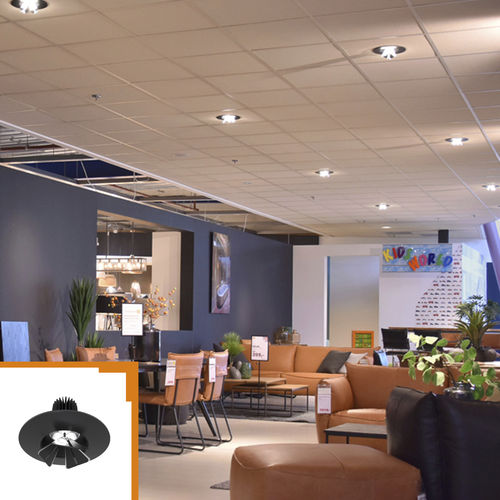downlight da incasso a soffitto / LED / tondo / in alluminio
