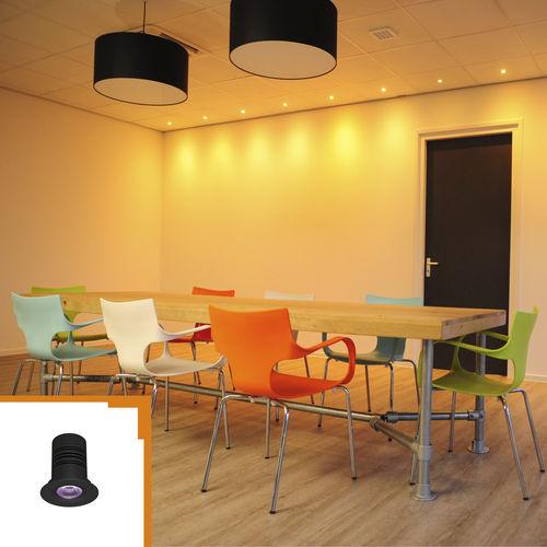 downlight da incasso a soffitto / LED / tondo / in alluminio anodizzato
