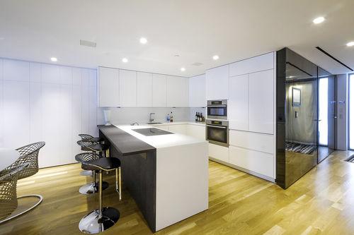 cucina moderna / in wengé / in Corian® / a U