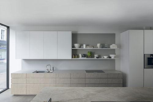 cucina moderna / in legno / in quarzo / laccata
