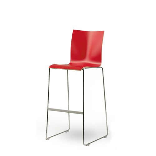 sedia alta moderna / imbottita / a slitta / impilabile