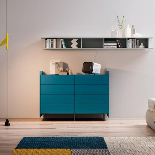 cassettone moderno / in legno / modulare / blu