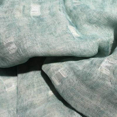 tessuto per tende / a motivi / in cotone / in lino