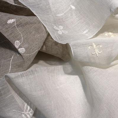 tendina voile a motivi / in lino / per uso residenziale
