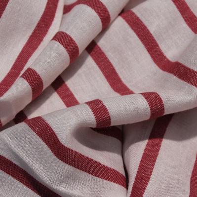 tessuto per tende / a righe / in lino / in acrilico