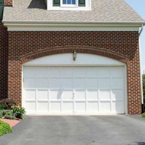 cancello sezionale / in metallo / a lamelle / per garage