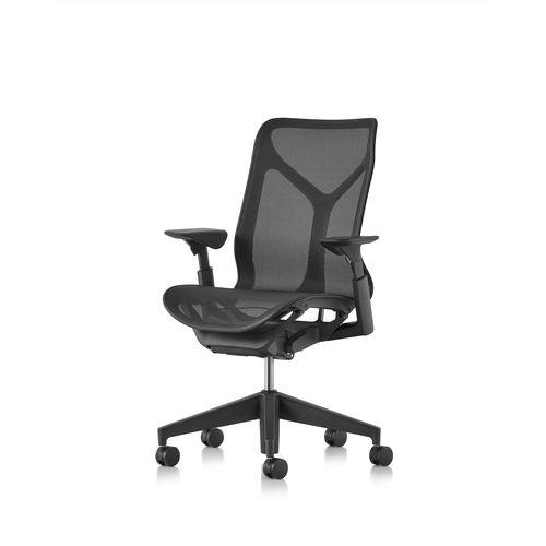 poltrona da ufficio moderna / a rete / ergonomica / nera
