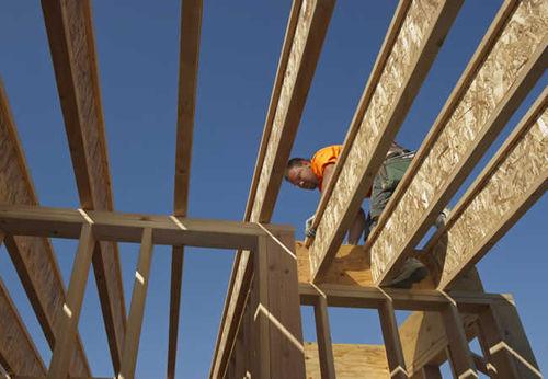 trave in legno ricostituito / a I / per solaio / da tetto