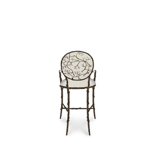 sedia alta classica / imbottita / con braccioli / in velluto