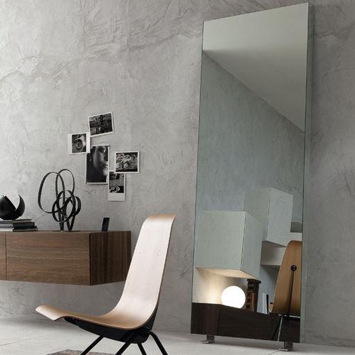 specchio da terra / moderno / rettangolare / in metallo