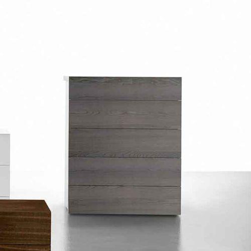cassettiera moderna / in legno laccato / in quercia / bianca