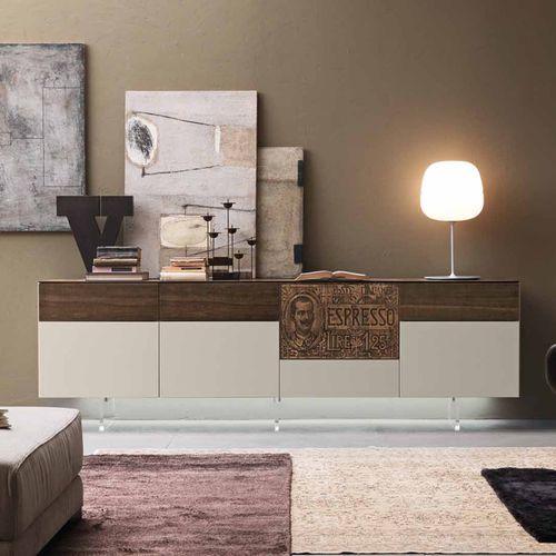 credenza moderna / in legno laccato / in legno laccato brillante / in legno laccato opaco
