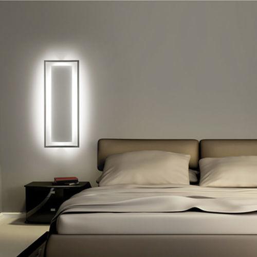 applique design originale / in acciaio / LED / rettangolare
