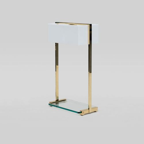 lampada da tavolo / moderna / in vetro / in marmo