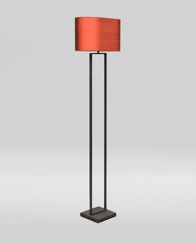 lampada da pavimento / moderna / in metallo / in tessuto