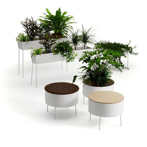 vaso da giardino in metallo / tondo