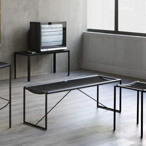 panca design minimalista / in metallo / in gomma