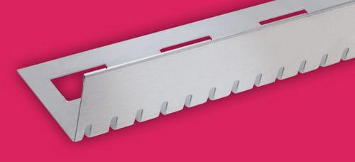 profilo di finitura in acciaio inox / per piastrelle / per angolo esterno