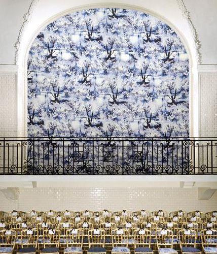 tessuto da tappezzeria / per tende / da parete / con motivi naturali