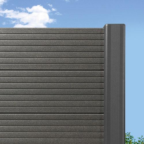 recinzione da giardino / a lamelle / in legno composito / ad alta sicurezza