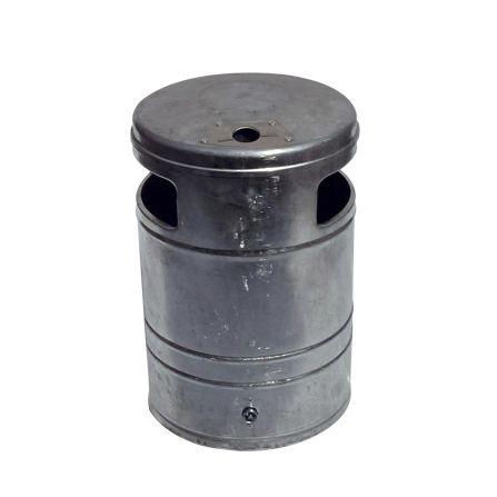 pattumiera pubblica / da parete / in acciaio / con portacenere integrato