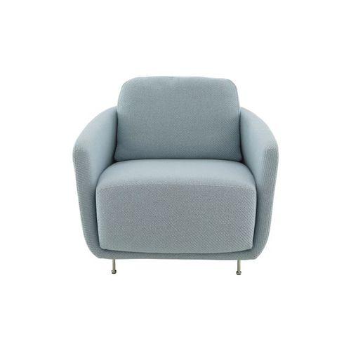 poltrona moderna / in tessuto / con braccioli / per cuscini