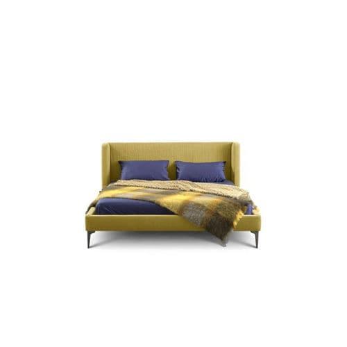 letto singolo / moderno / imbottito / in tessuto