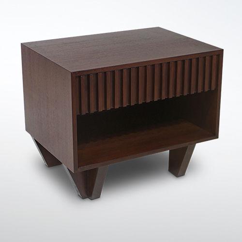 comodino moderno / in legno / rettangolare