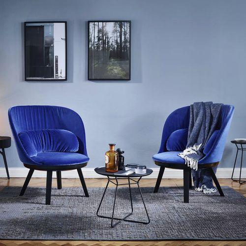 tavolino basso moderno / in metallo / tondo / da interno