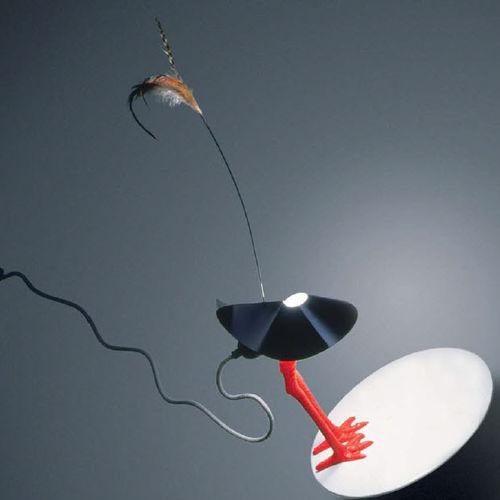 lampada da tavolo / design originale / in metallo / in porcellana