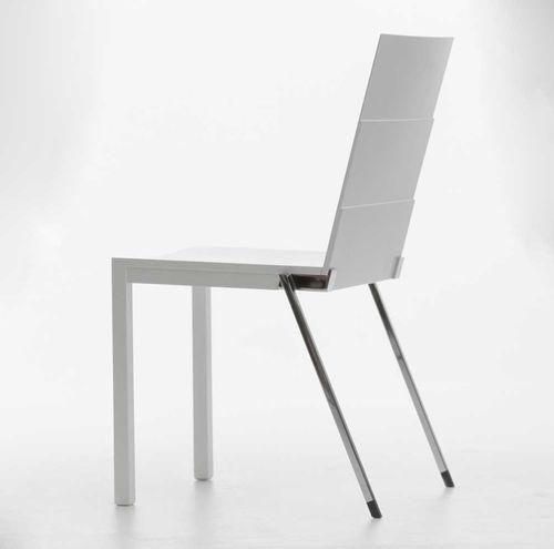 sedia visitatore moderna / impilabile / in legno / in metallo