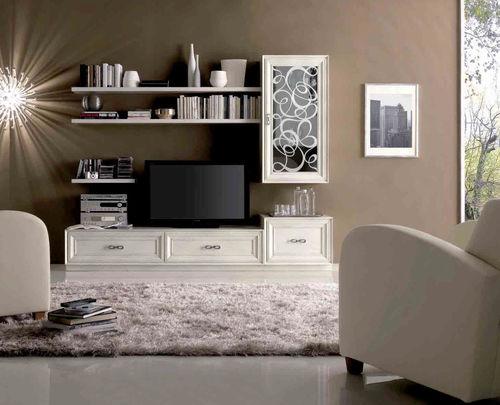 parete attrezzata TV classico / in legno laccato