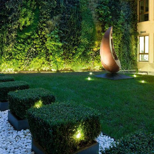 faretto da pavimento / da giardino / LED / tondo