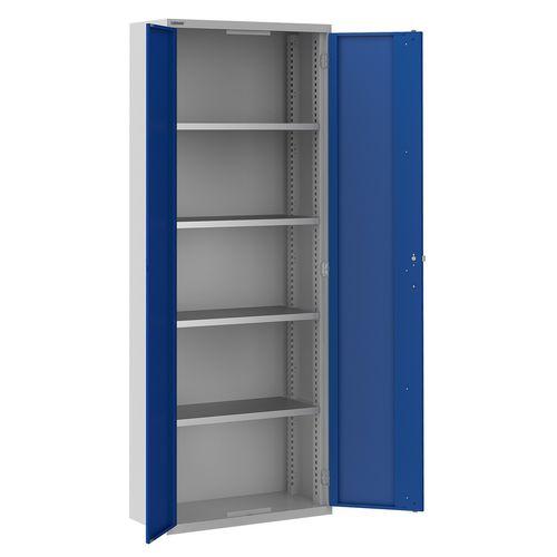 armadio classificatore alto / in acciaio / con sportello battente / moderno