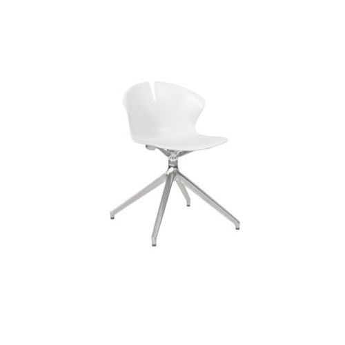 sedia visitatore moderna / a slitta / con rotelle / con base a stella