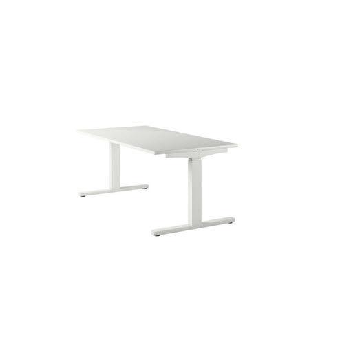 scrivania in legno laccato / moderna / contract / ad altezza regolabile