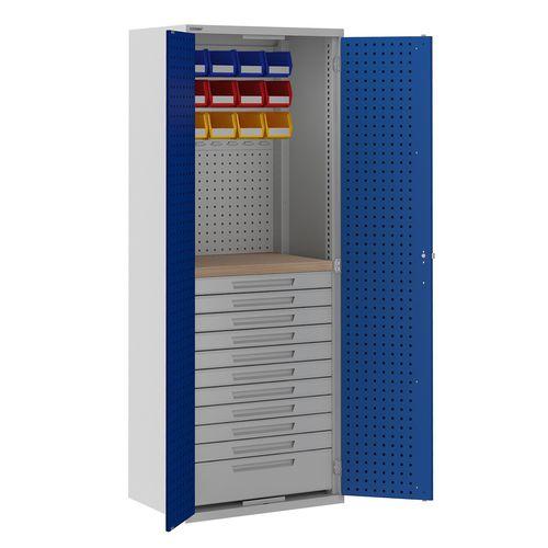 armadio classificatore alto / in legno / in acciaio / con sportello battente