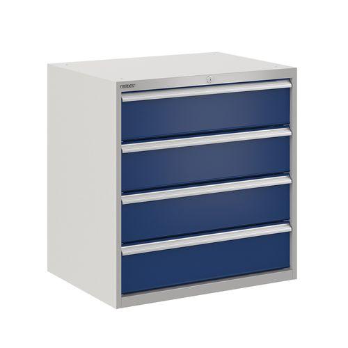 armadio classificatore basso / in acciaio / con cassetti / moderno