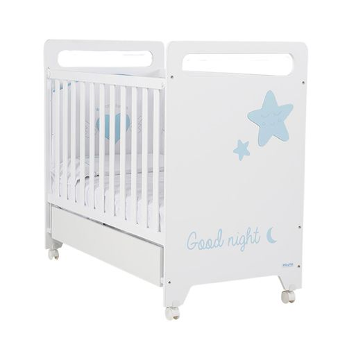 letto per neonato moderno / con rotelle / per bambini (unisex) / in faggio