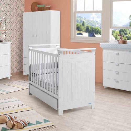 letto per neonato moderno / per bambini (unisex) / in legno laccato / 120x60 cm