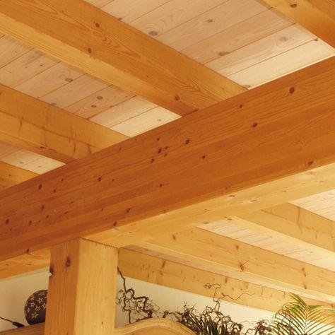 trave prefabbricata / in legno / rettangolare