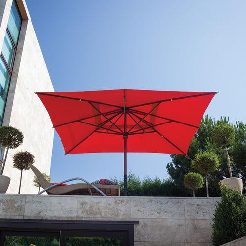 ombrellone per ristorante / per bar / in legno / in tessuto