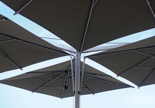 ombrellone quadruplo / per ristorante / per bar / in alluminio