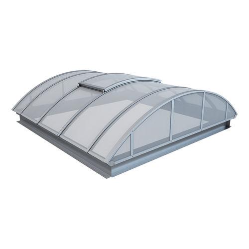 copertura vetrata in metallo