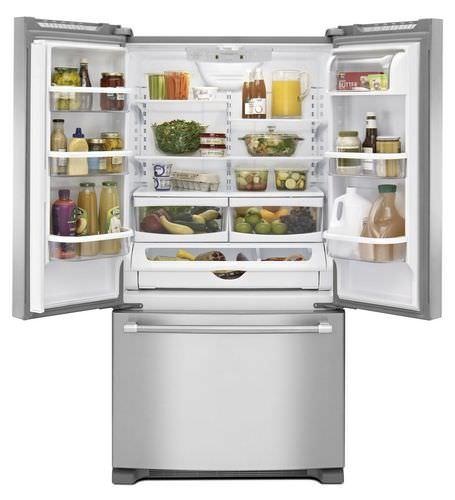 frigorifero combinato americano / in acciaio inox / ecologico / Energy Star